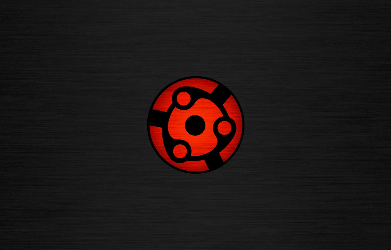 Photo wallpaper red, Wallpaper, black, Minimalism, Naruto
