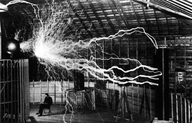 Photo wallpaper Tesla, Nicola, electricity
