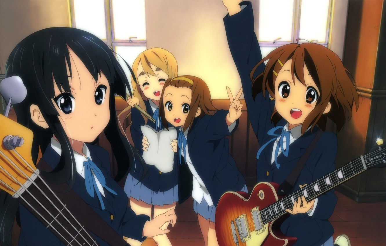 Wallpaper K On Anime Mio Akiyama Yui Hirasawa Tsumugi