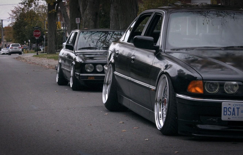 Photo wallpaper BMW, tuning, stance, E28, E38