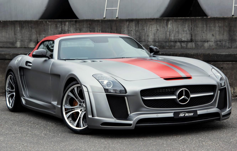 Photo wallpaper Roadster, Mercedes-Benz, Mercedes, AMG, AMG, 2013, FAB Design, Jetstream, R197, SLS 63
