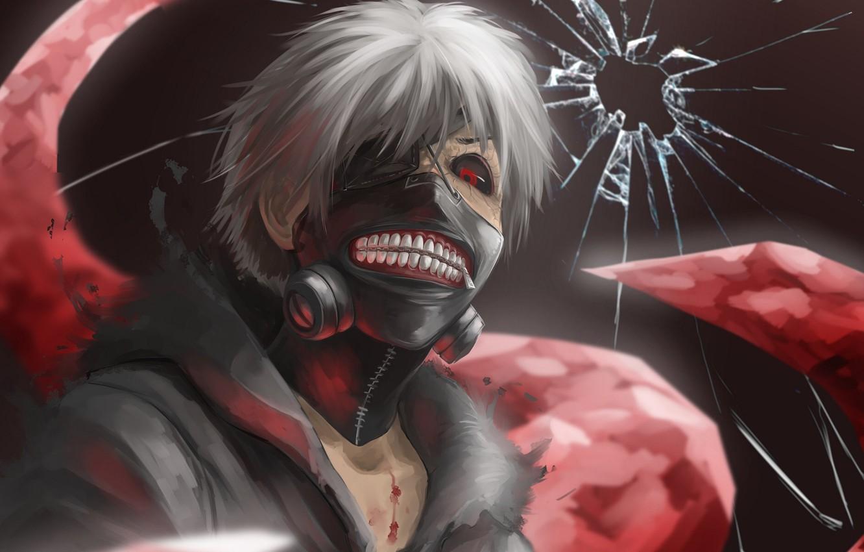 Photo wallpaper anime, art, Tokyo ghoul, Tokyo Ghoul, Ken Kanek