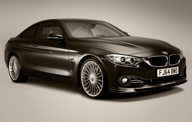 Photo wallpaper BMW, Coupe, UK-spec, 2014, F32, Alpina, Bi-Turbo