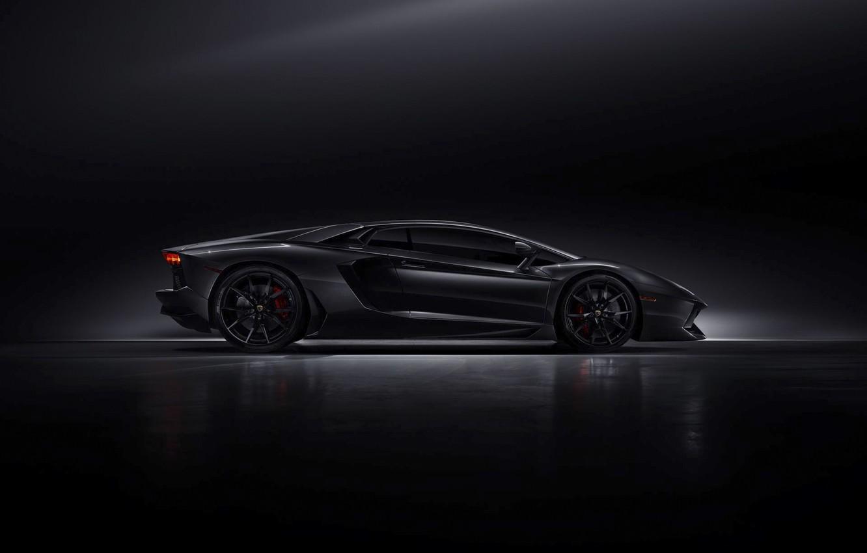 Wallpaper Lamborghini Dark Black Side Lp700 4 Aventador