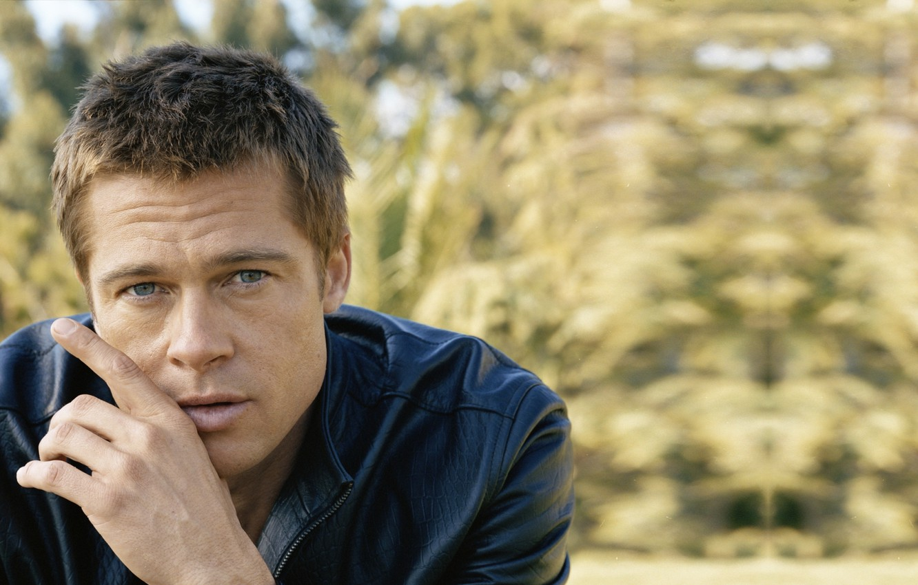 Photo wallpaper look, male, Brad Pitt, Brad Pitt, actor, producer