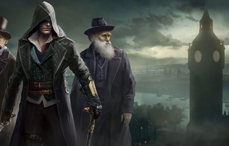 Photo wallpaper London, Assassins Creed, Art, Darwin, Syndicate, Syndicate, Ubisoft Quebec, Assassin's Creed: Syndicate, Assassin's Creed: Syndicate, …