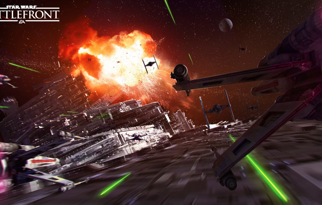 Photo wallpaper game, Star Destroyer, Star Destroyer, Electronic Arts, DICE, X-Wing, The Death Star, Death Star, TIE-Fighter, …