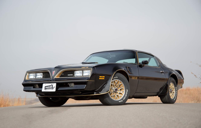 Photo wallpaper car, Black, muscle, Pontiac, 1979, Trans