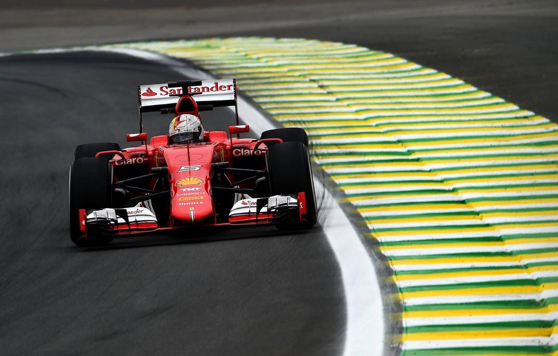 Wallpaper Ferrari Ferrari Vettel Brazil Grand Prix Images For Desktop Section Sport Download
