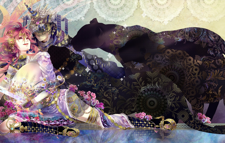 Photo wallpaper girl, anime, Panther, guy