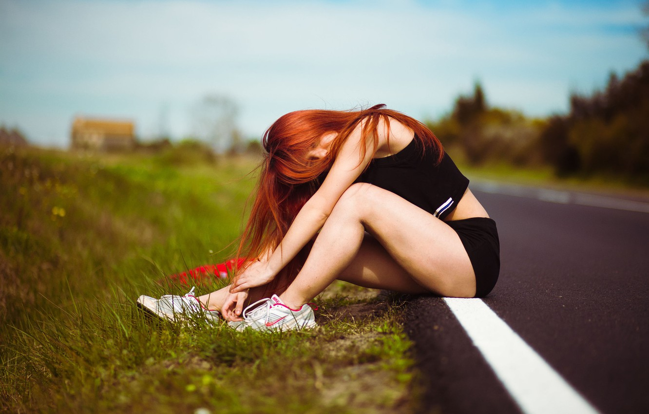 Photo wallpaper Girl, Sexy, Spain, Road, Lady, Fashion, Lovely, Dela, Popular