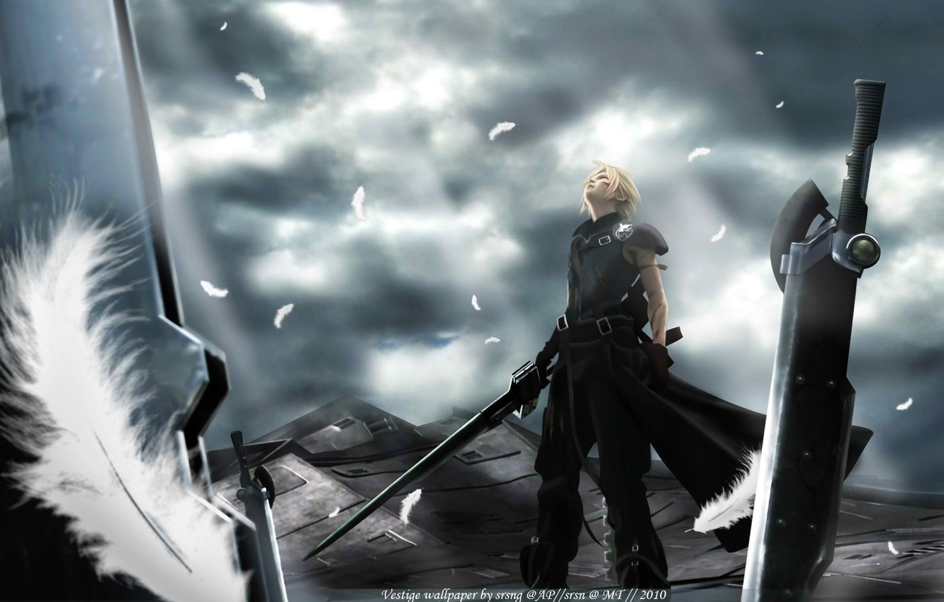 Photo wallpaper weapons, anime, advent children, cloud, finalka, final fantasy 7