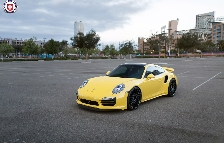 Photo wallpaper Porsche, Turbo, Wheels, 991, HRE