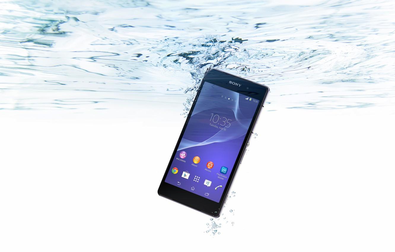 Photo wallpaper Water, Bubbles, Sony, Water, Xperia, Smartphone, Smartphone, Waterproof