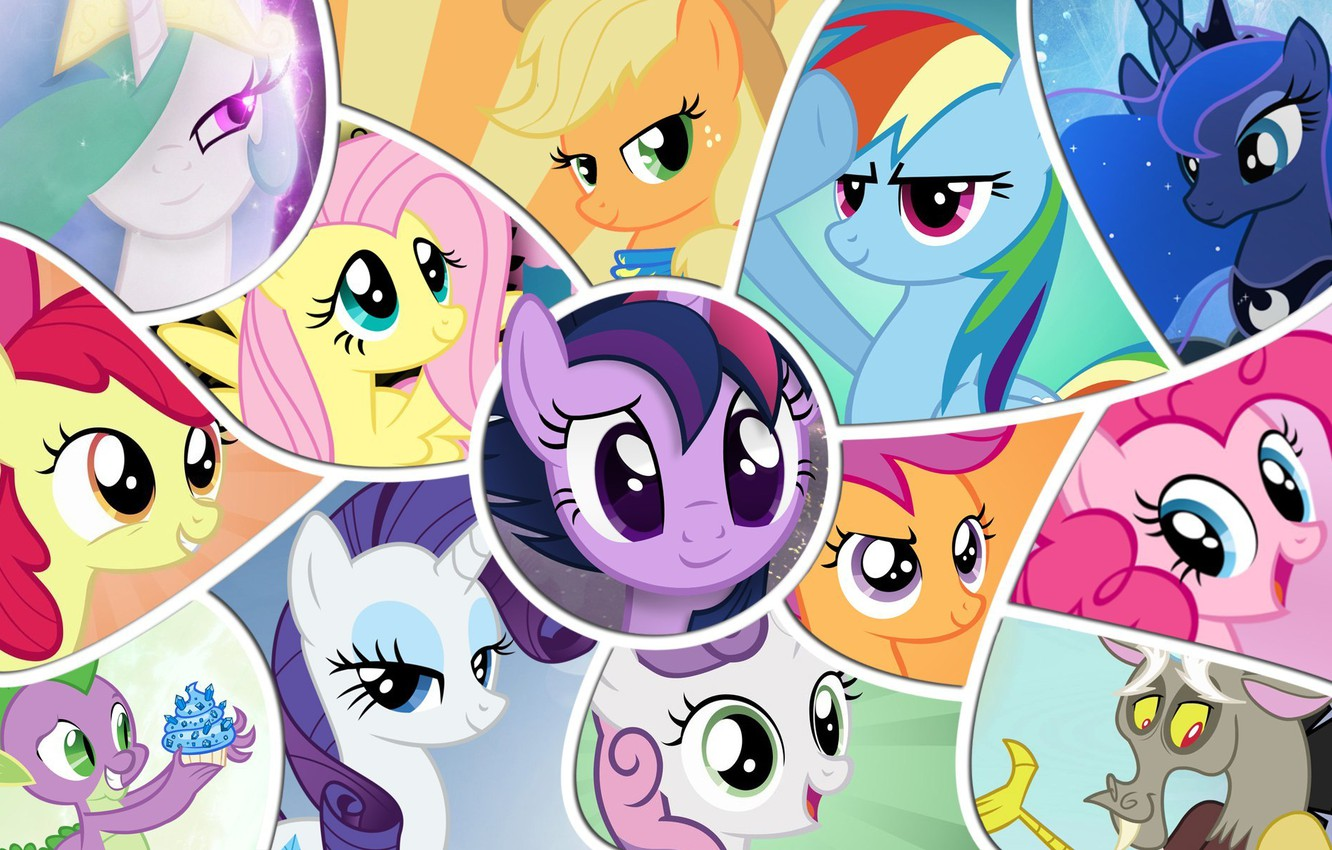 Wallpaper the moon rainbow applejack my little pony - Princess luna screensaver ...