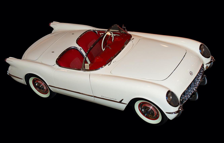 Photo wallpaper retro, Chevrolet, convertible, car
