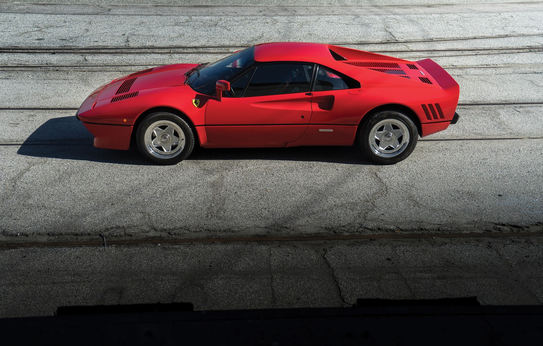 Photo wallpaper red, Ferrari, Red, sports car, sportcar, GTO, classic, urban, 288
