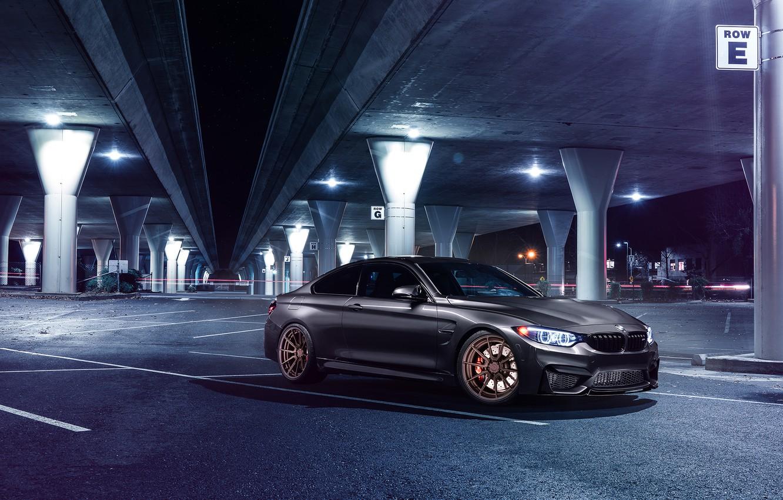 Photo wallpaper BMW, Car, Front, Bridge, Parking, Mode, Carbone