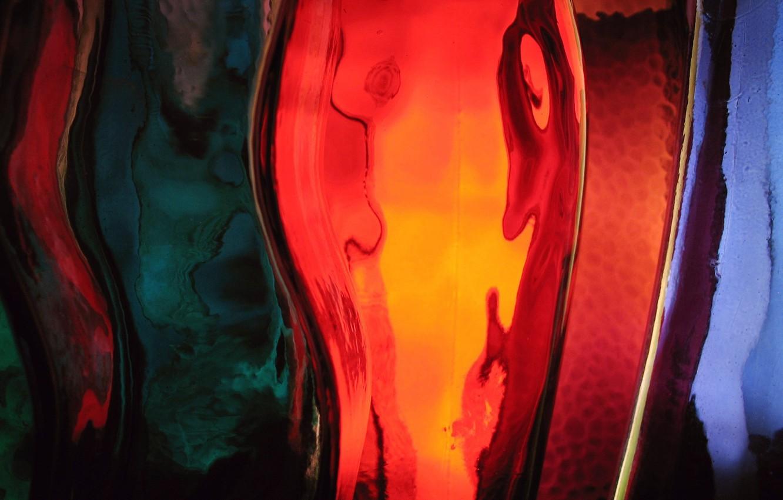 Photo wallpaper glass, strip, colorful