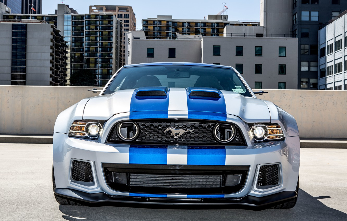 Photo wallpaper Mustang, Ford, Shelby, Need For Speed, The front, 2014, From