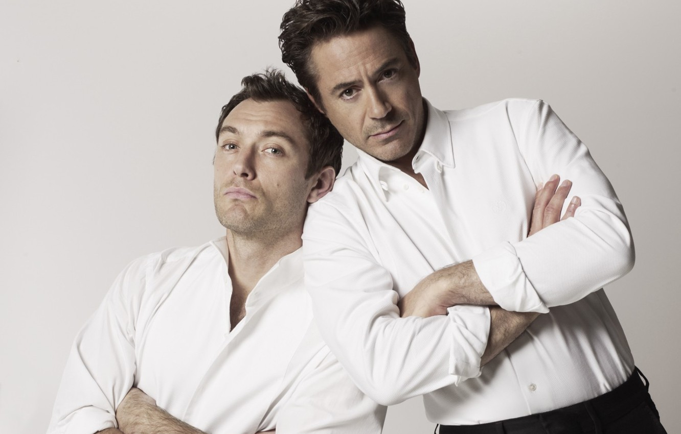 Photo wallpaper actors, robert downey jr, actors, jude law, Robert Downey Jr., Jude law