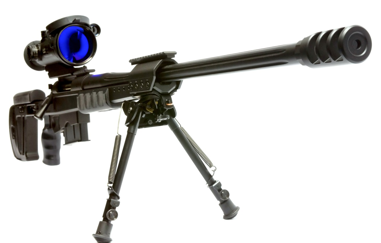 Photo wallpaper white, weapons, background, shock absorber, brake, cartridge, weapons, material, sight, shop, shutter, weight, Sniper, Rifle, …