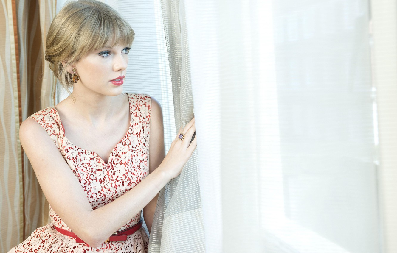 Wallpaper Makeup Dress Actress Hairstyle Blonde Photographer Curtains Singer Taylor Swift Curtains Sitting Window Taylor Swift The Guardian Christian Sinibaldi Images For Desktop Section Devushki Download