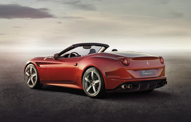 Photo wallpaper red, Ferrari, Ferrari, supercar, rear view, California T, California T