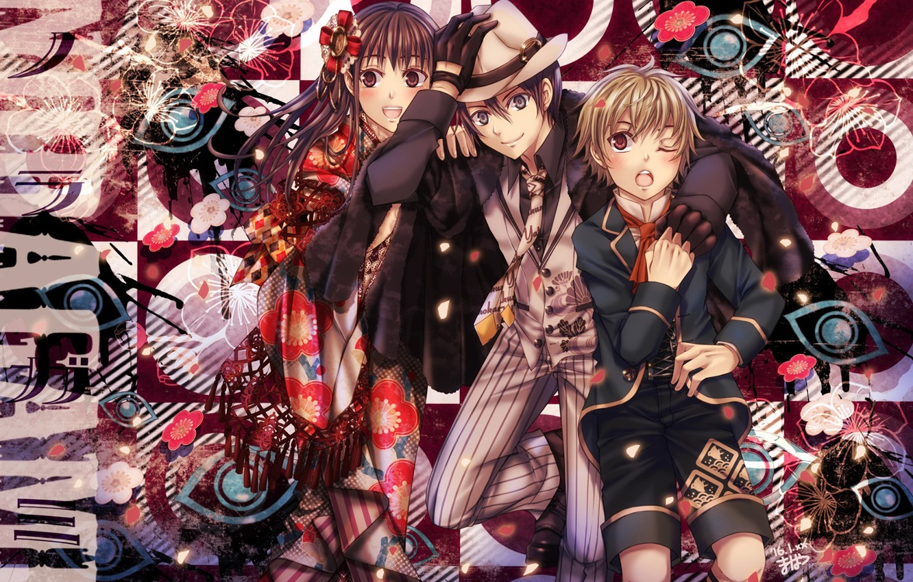 Photo wallpaper anime, art, Noragami, Yato, Yukine, Chieri