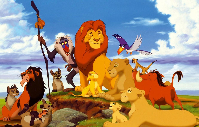 Photo wallpaper monkey, Timon, the lion king, Pumbaa, Nala, Simba, Timon and Pumbaa, hyenas