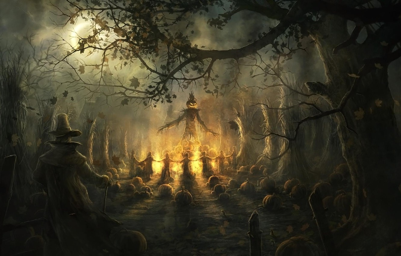 Photo wallpaper pumpkin, Halloween, Halloween