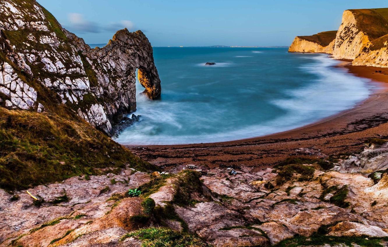 Photo wallpaper sea, beach, landscape, rock, coast, arch