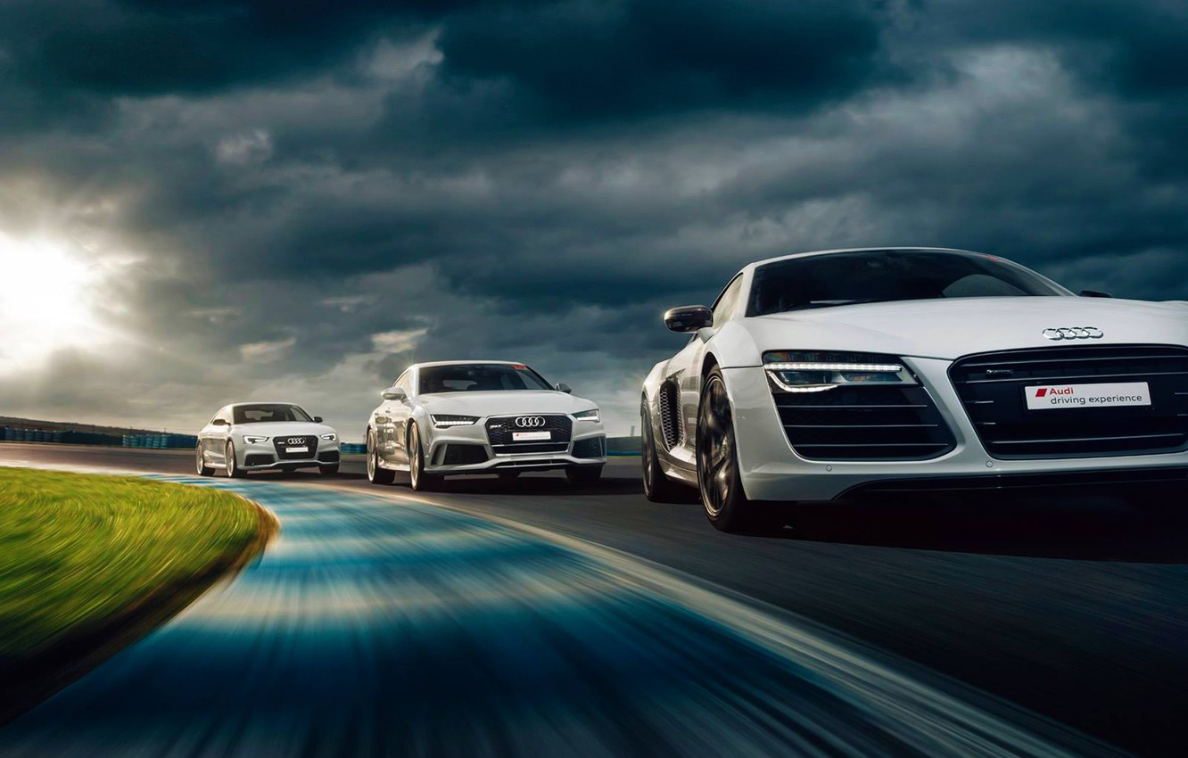 Photo wallpaper Audi, Cars, RS5, Sun, Day, Track, Drive, RS7, Experience