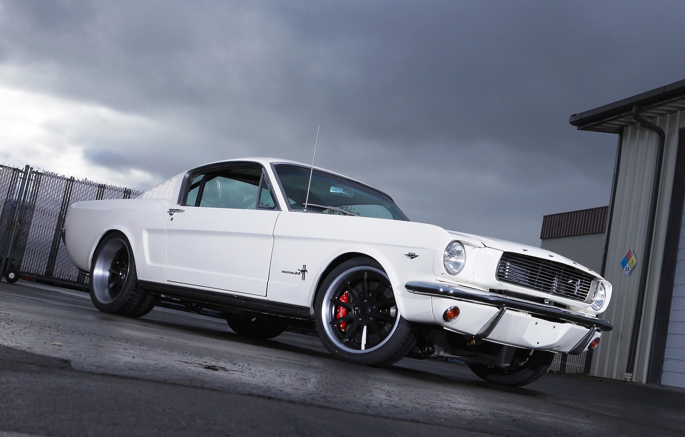 Photo wallpaper Mustang, Ford, 1965, Fastback, Wheels, RB3C, Forgeline