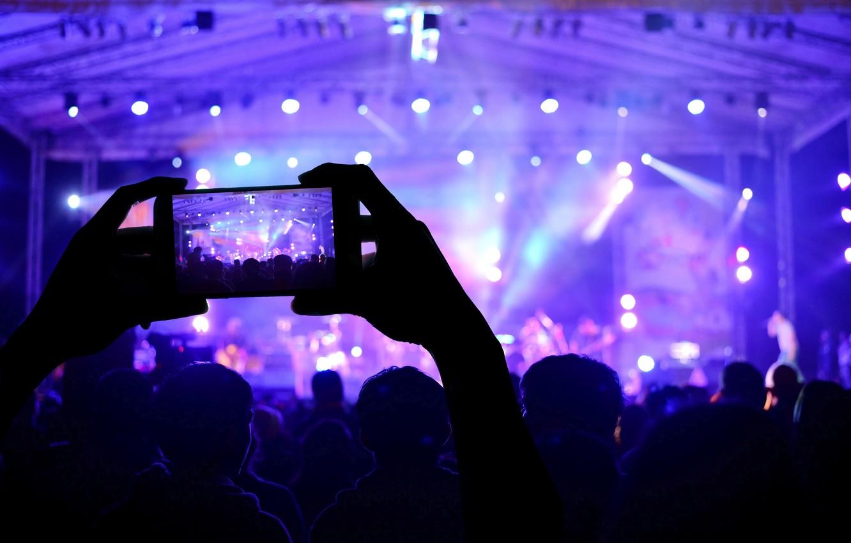 P O Wallpaper Macro Lights Music Scene Blur Devices Concert