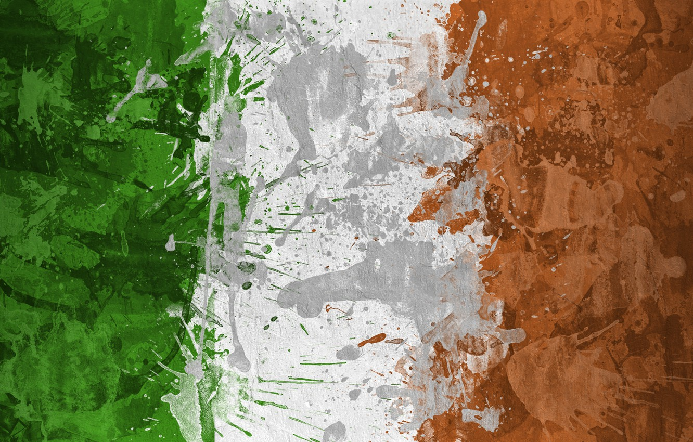 Wallpaper paint, flag, Ireland, flag ...