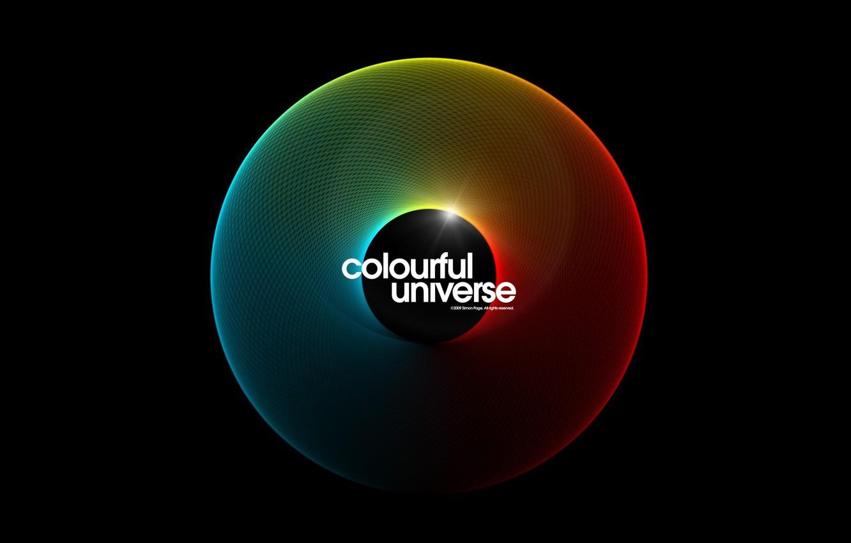 Photo wallpaper color, sphere, colorful universe