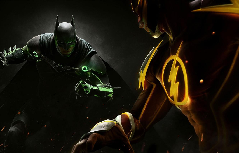 Photo wallpaper sign, fight, Batman, armor, heroes, costumes, the fight, Bruce Wayne, Warner Bros, Flash, Barry Allen, …