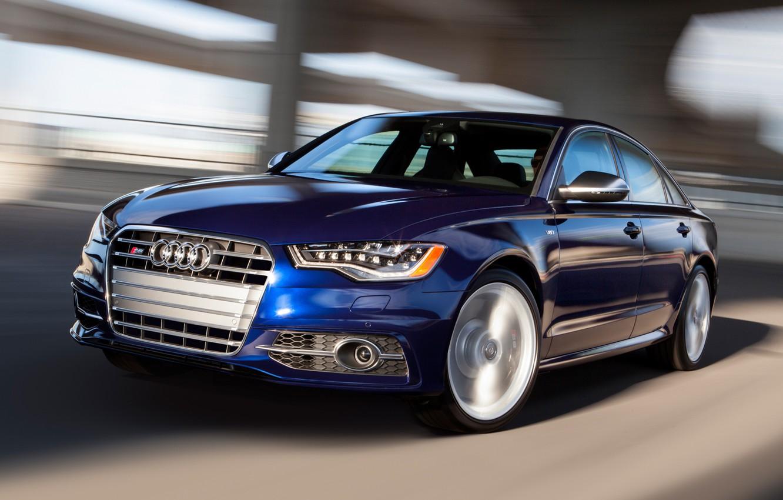 Photo wallpaper Audi, Road, Audi, Blue, Machine, Movement, Machine, Sedan, Car, Car, Cars, Blue, Cars, Road, Sedan, …