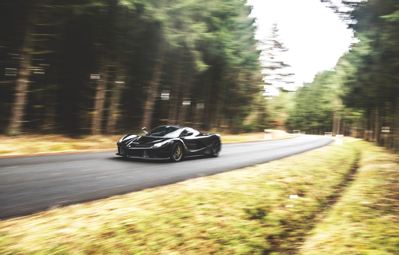 Photo wallpaper Ferrari, LaFerrari, moving, GFWilliams Photographer