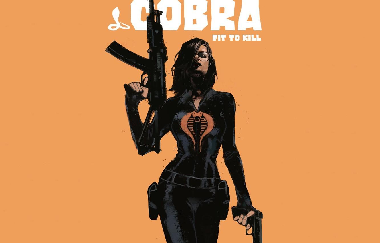 Photo wallpaper look, girl, weapons, background, costume, Cobra, film. art