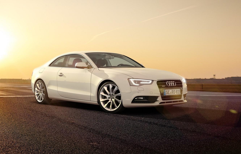 Photo wallpaper Audi, Audi, White, 2014
