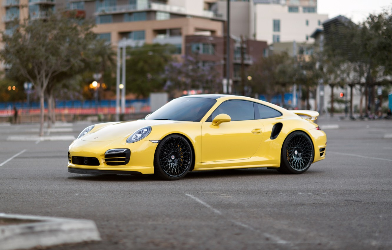 Photo wallpaper Porsche, Turbo, 991, HRE, 501M