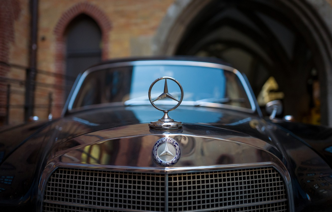 Photo wallpaper icon, Mercedes-Benz, the hood, grille
