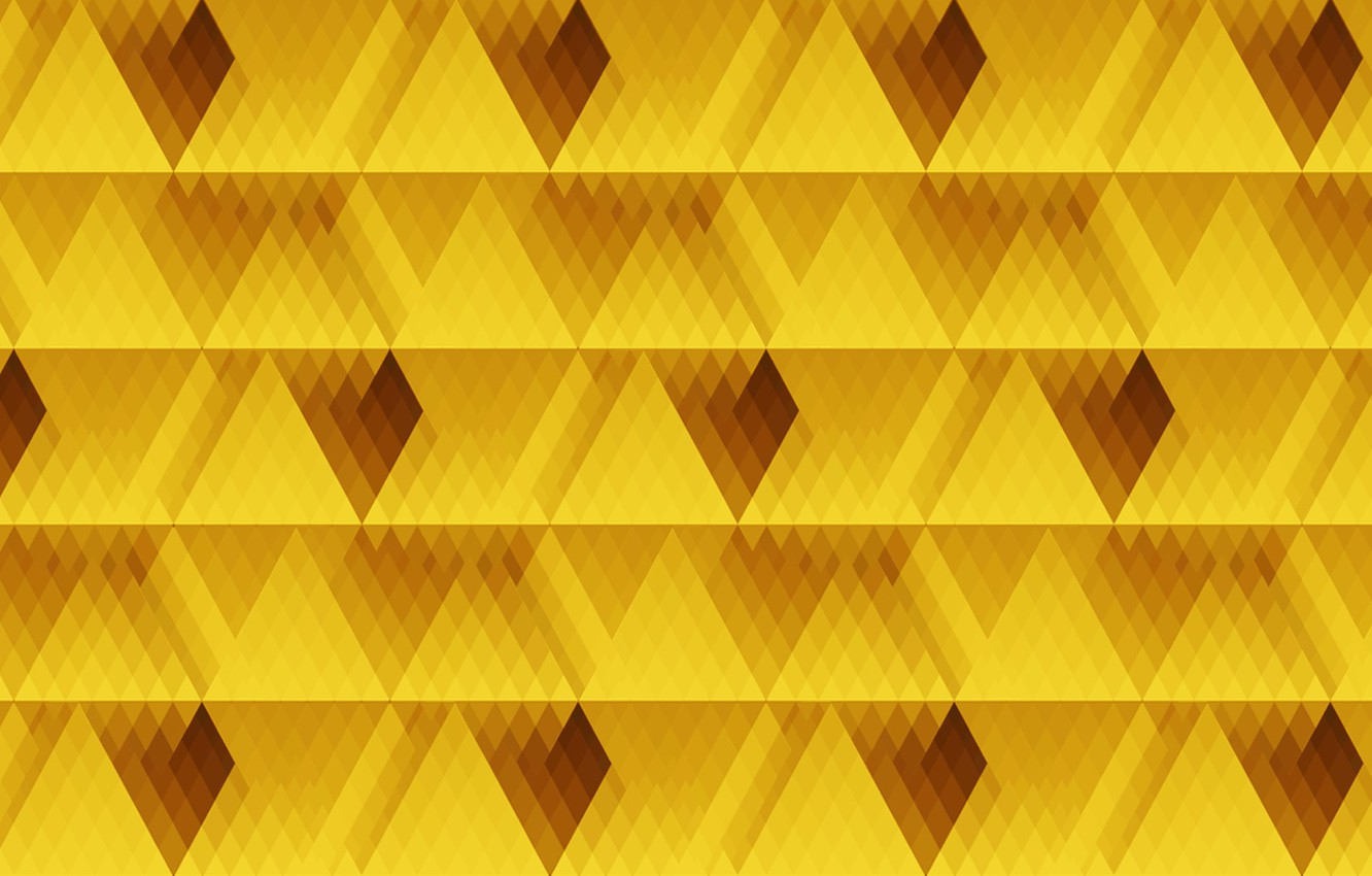 Photo wallpaper line, yellow, texture, diamonds