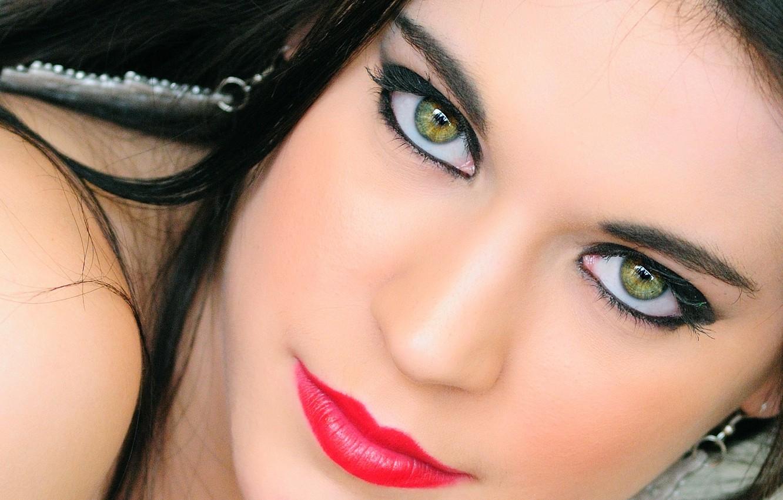 Photo wallpaper look, portrait, makeup, lips, photographer, green-eyed, Giovanni Zacche
