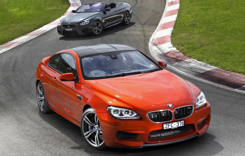 Photo wallpaper Orange, Black, BMW, Machine, Car, 2012, Car, Wallpapers, New, BMW M6, Wallpaper, The front