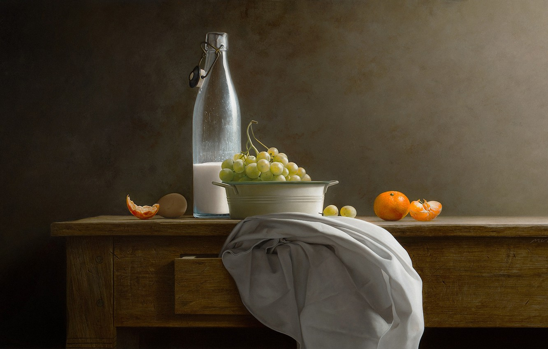 Photo wallpaper background, milk, art, fruit