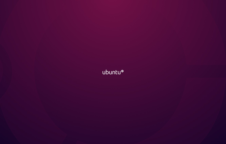Photo wallpaper purple, minimalism, linux, ubuntu