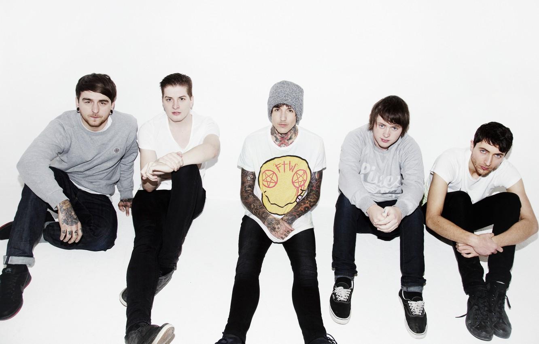 Photo wallpaper music, group, Bring Me The Horizon, metalcore, Matt Kean, Matt Nicholls, Jordan Fish, Oliver Sykes, …